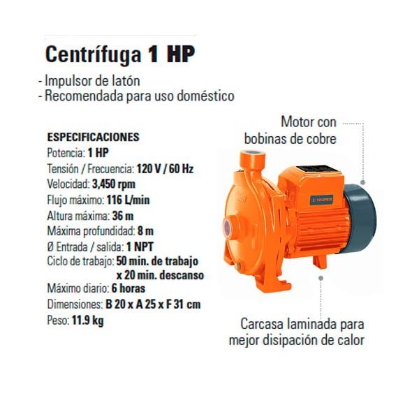 Bomba Centrifuga 1 HP TRUPER
