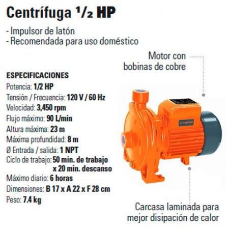 Bomba Centrifuga 1/2 HP TRUPER