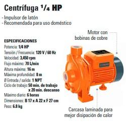 Bomba Centrifuga 1/4 HP TRUPER