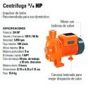 Bomba Centrifuga 3/4 HP TRUPER