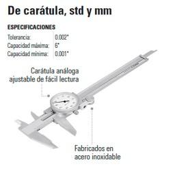 Calibrador Vernier de Caratula TRUPER