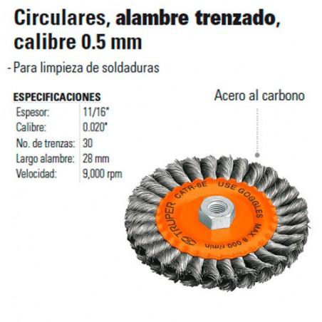 """Carda Circular 6""""  de Alambre Trenzado TRUPER"""