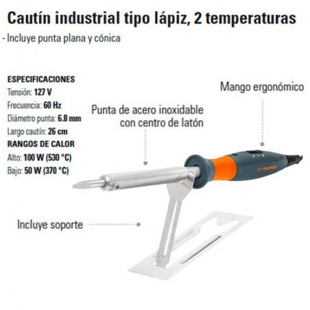 Cautin Industrial tipo Lápiz 100W TRUPER
