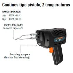 Cautin tipo Pistola 140W TRUPER