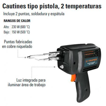 Cautin tipo Pistola 230W TRUPER