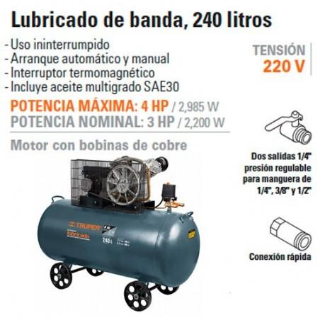Compresor de aire 220V de 240 Litros TRUPER