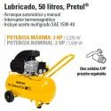 Compresor de Aire 120V 50 Litros PRETUL
