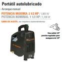 Compresor de Aire 120V Portatil Autolubricado TRUPER