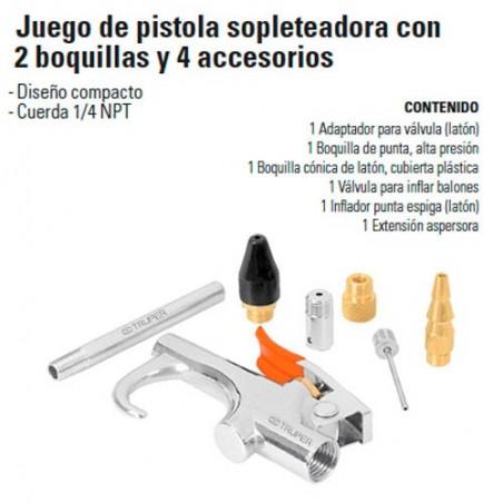 Pistola Sopleteadora 2 boquillas TRUPER