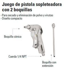 Pistola Sopleteadora con 2 Boquillas TRUPER