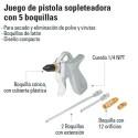 Pistola Sopleteadora con 5 Boquillas TRUPER