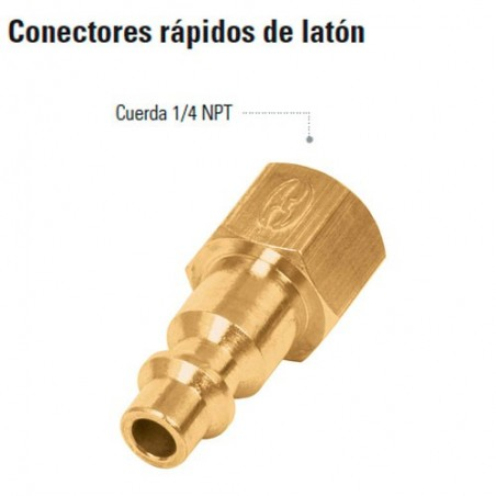 Conectores Rapidos de Laton TRUPER