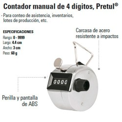 Contador Manual de 4 Digitos PRETUL