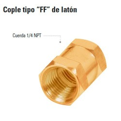 Cople tipo FF de Laton TRUPER