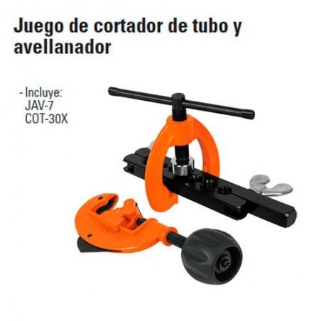 Cortador de Tubo y Avellanador TRUPER