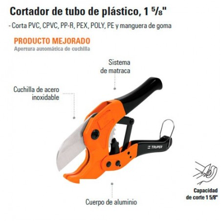 Cortador de Tubo de Plastico TRUPER