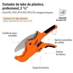 Cortador de Tubo para Plastico Profecional TRUPER