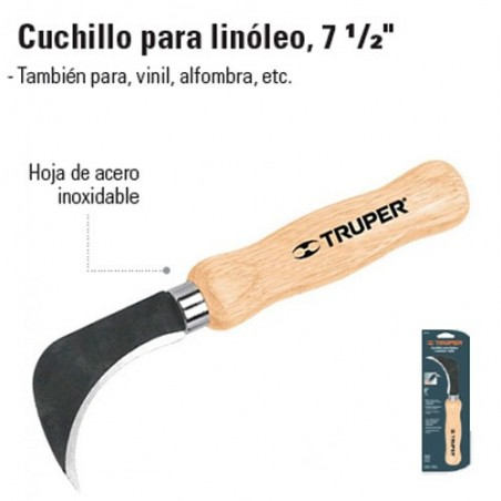 "Cuchillo para Linoleo 7 1/2"" TRUPER"