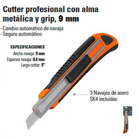 Cutter Alma Metalica 9mm TRUPER