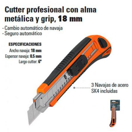 Cutter Profesional Alma Metálica 18mm TRUPER