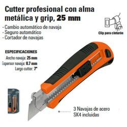 Cutter Profesional Alma Metalica 25mm TRUPER