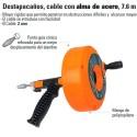 Destapacaños Cable con Alma de Acero 7.6 M TRUPER