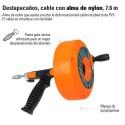Destapacaños Cable con Alma de Nylon 7.6M TRUPER