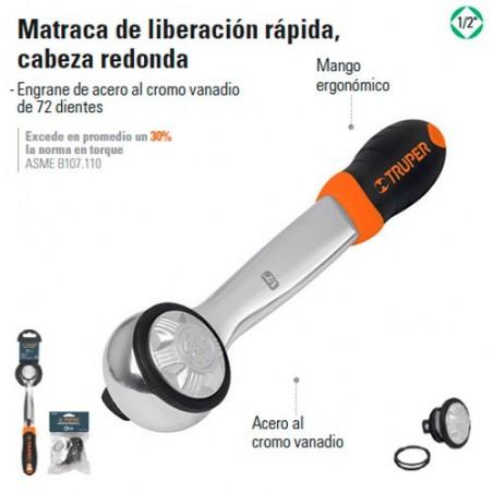 Matraca de Liberacion Rapida Cabeza Redonda TRUPER