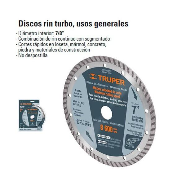 Disco de Diamante Rin Turbo TRUPER
