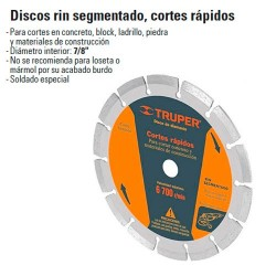 Disco de Diamante Rin Segmentado TRUPER