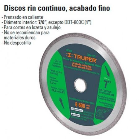 Disco de Diamante Rin continuo TRUPER