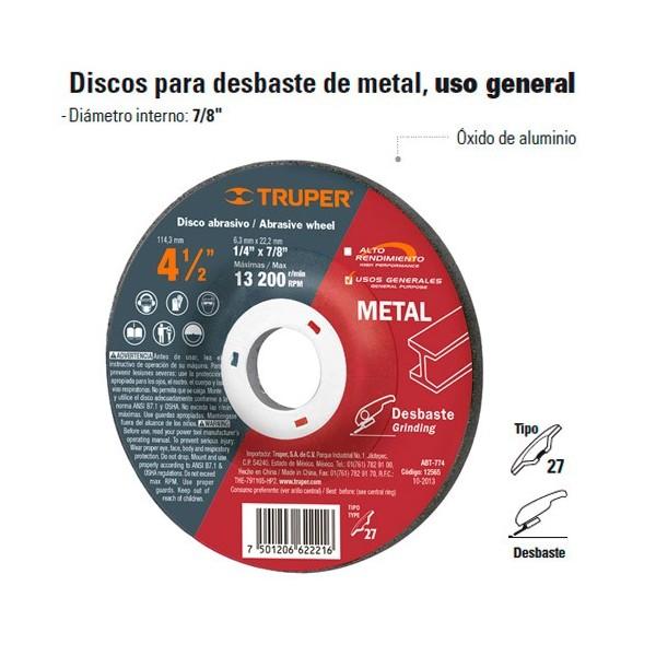 Disco para Desbaste de Metal TRUPER