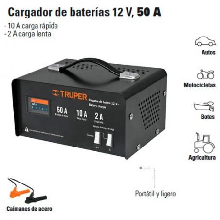 Cargador de Baterias 12V, 50A TRUPER