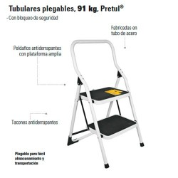 Escalera Tubular Plegable PRETUL