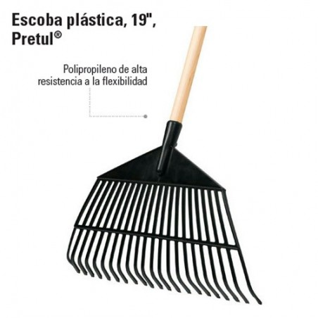 Escoba Plastica 22 Dientes PRETUL
