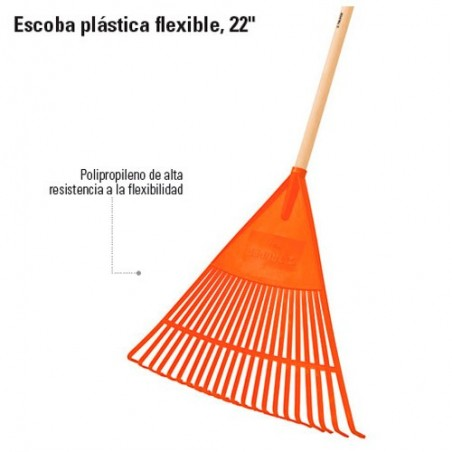 Escoba Plastica Flexible 22 Dientes TRUPER