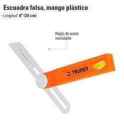 Escuadra Falsa Mango Plastico TRUPER