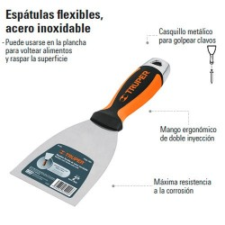 Espatula Flexible Acero Inoxidable TRUPER