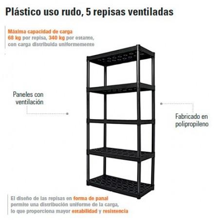 Estante Plastico Uso Rudo 5 Repisas TRUPER