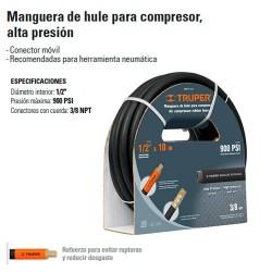 "Manguera de Hule 1/2"" Compresor Alta Presion TRUPER"