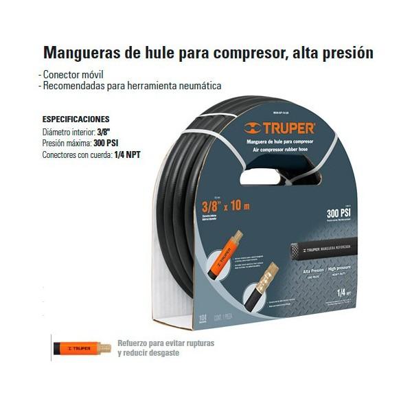 "Manguera de Hule 3/8"" Compresor Alta Presion TRUPER"