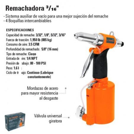 "Remachadora 3/16"" Neumatica TRUPER"
