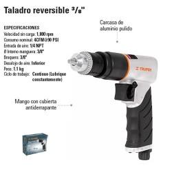 "Taladro Reversible 3/8"" Neumatico TRUPER"