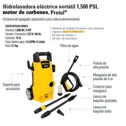 Hidrolavadora Electrica Portatil 1500 PSI PRETUL