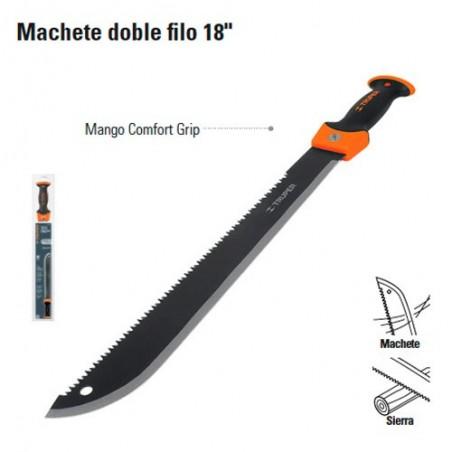 """Machete Doble Filo 18"""" TRUPER"""