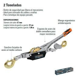 Malacate 2 Toneladas TRUPER