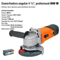 "Esmeriladora Angular 4 1/2"" Profesional 800W TRUPER"
