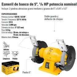 """Esmeril de Banco 5"""" 1/6 HP PRETUL"""