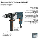 "Rotomartillo 1/2"" Industrial 650W TRUPER"