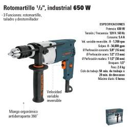 "Rotomartillo 1/2"" Industrial 650W TRUPER"